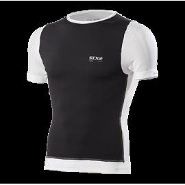 Maglietta intima girocollo a maniche corte con protezione antivento