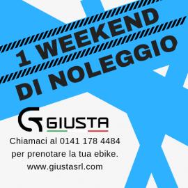 NOLEGGIO E-BIKE 1 WEEKEND