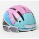 Lazer Casco Bob Gloss Pink-Blue w/Blub Eyewear