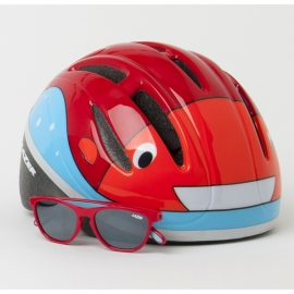 Lazer Casco Bob Gloss Red w/Blub Eyewear
